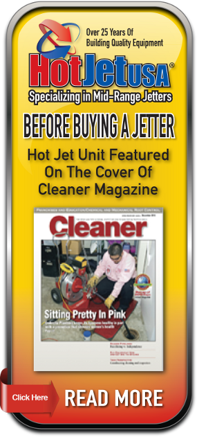 Cleaner Magazine features HotJet USA Sewer Jetters