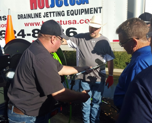 Hands On Training is a LARGE component of Jetter Training