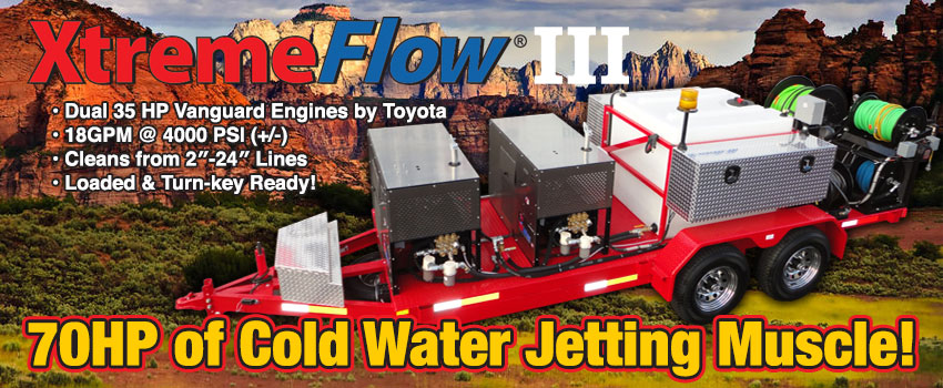 XtremeFlow III Dual Engine Cold Water Jetter Pro Package C