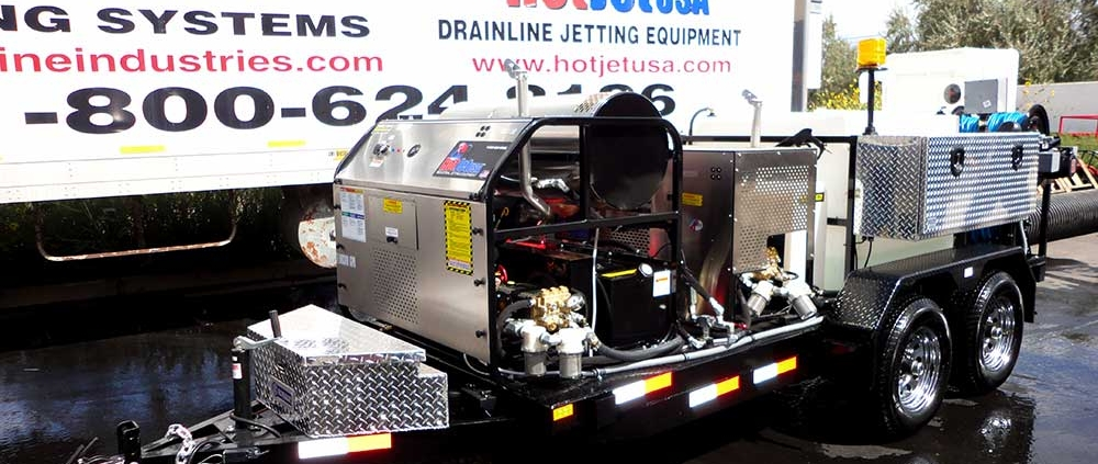 Dual Engine Hot & Cold Water Trailer Jetter