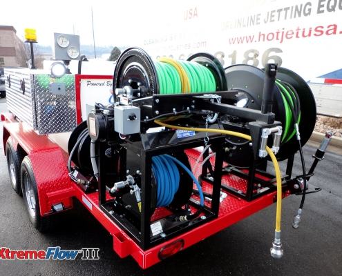 Cold Water Trailer Mounted Sewer And Drain Line Jetters