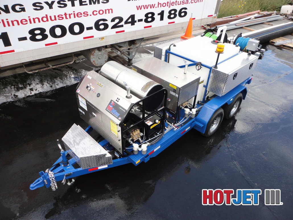 Hot Water Trailer Mounted Sewer And Drain Line Jetters