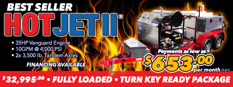 Hot & Cold Water Sewer Jetter Trailer