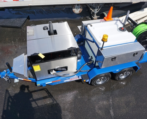 Cold Water Diesel Trailer Jetter Blue