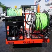 Cold Water Diesel Trailer Jetter Hose Reels