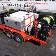 Cold Water Diesel Trailer Jetter Red