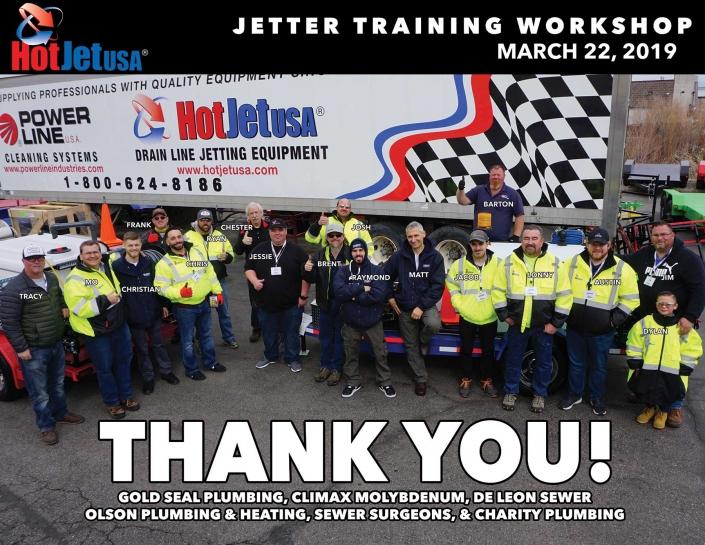 Jetter Training Workshop, March 22, 2019