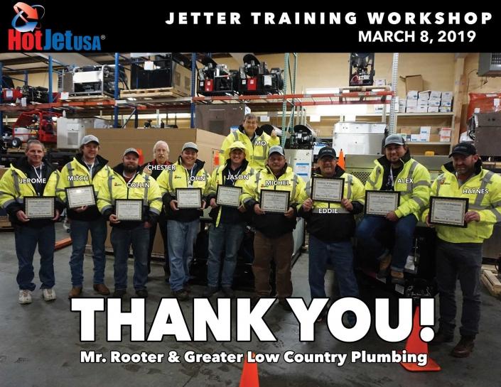 Jetter Training Workshop March 8, 2019