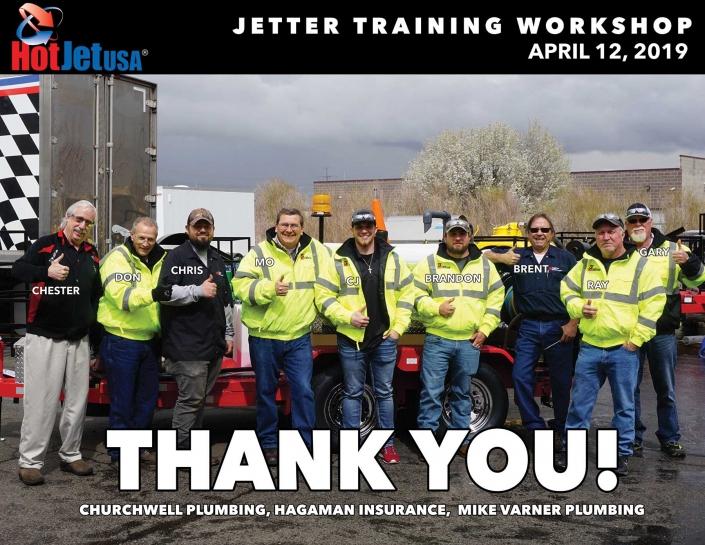 Jetter Training Workshop, April 12, 2019