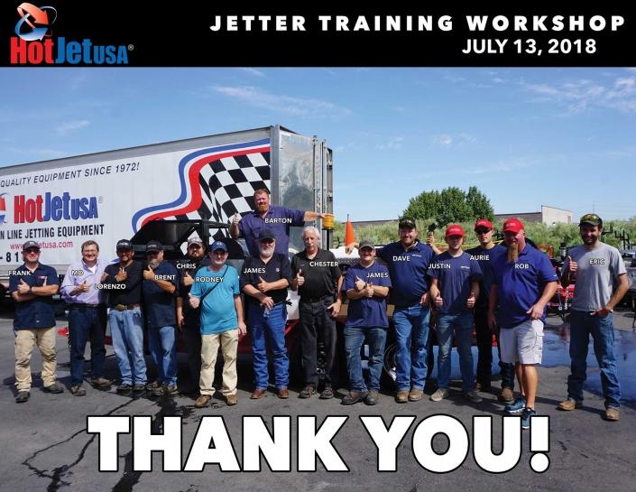 Jetter Training Workshop July 13, 2018