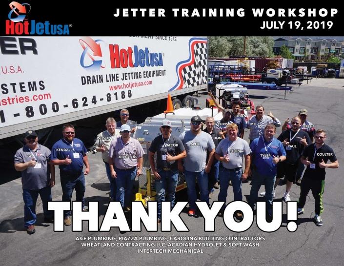Jetter Training Workshop July 19, 2019