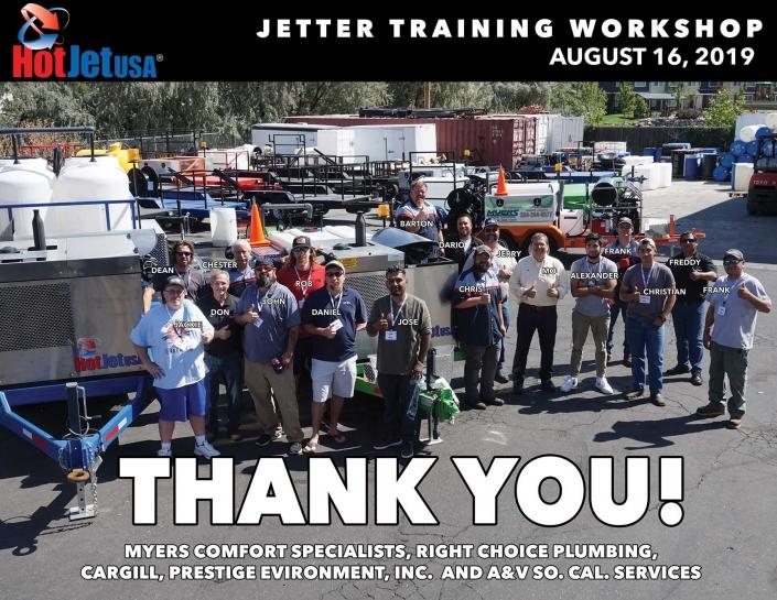 Jetter Training Workshop, August 16, 2019
