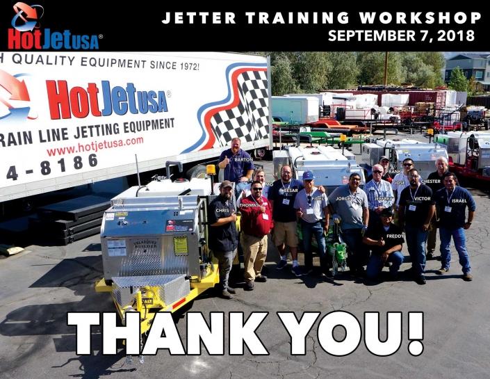 Jetter Training Workshop September 7, 2018