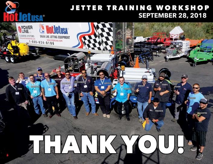 Jetter Training Workshop September 28, 2018