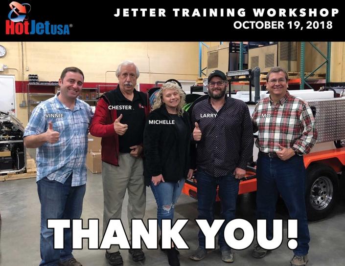 Jetter Training Workshop October 19, 2018