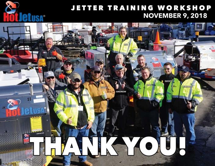 Jetter Training Workshop November 9, 2018