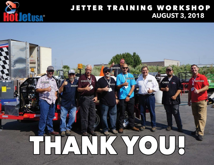 Jetter Training Workshop August 3, 2018