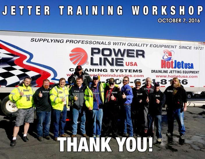 Jetter Training Workshop October 7, 2016