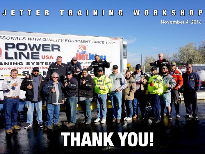 Jetter Training Workshop November 4, 2016
