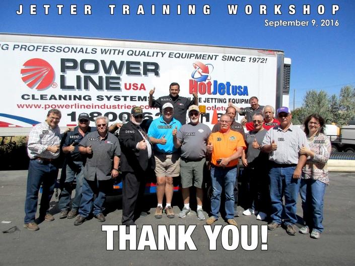 Jetter Training Workshop September 9, 2016