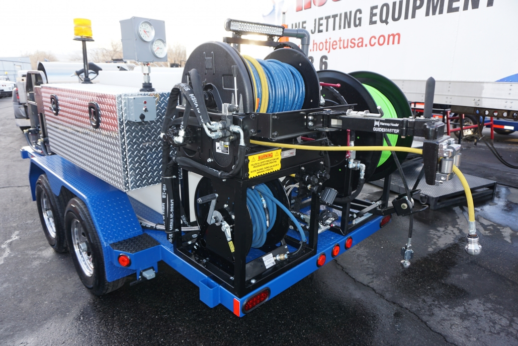 Hot Jet 3 with hydraulic hose reel