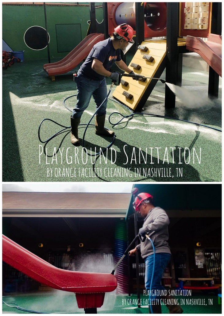 Playground Cleaning by Orange Facility Cleaning of Nashville, TN